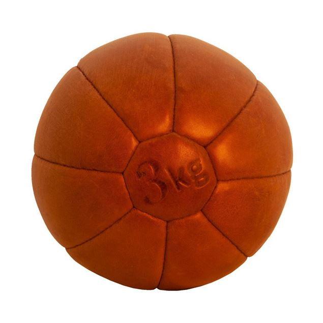 Picture of Vintage Medicine Ball 3 kg - Tan Brown