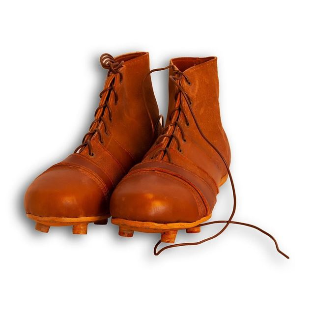 Picture of Vintage Soccer Boots 1930's - Tan Brown