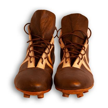 Vintage Soccer Boots 1950's - Dark Brown