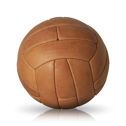 Vintage Soccer Ball WC 1958 - Tan Brown