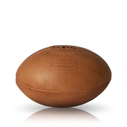 Vintage Rugby Ball 1930 - Tan Brown