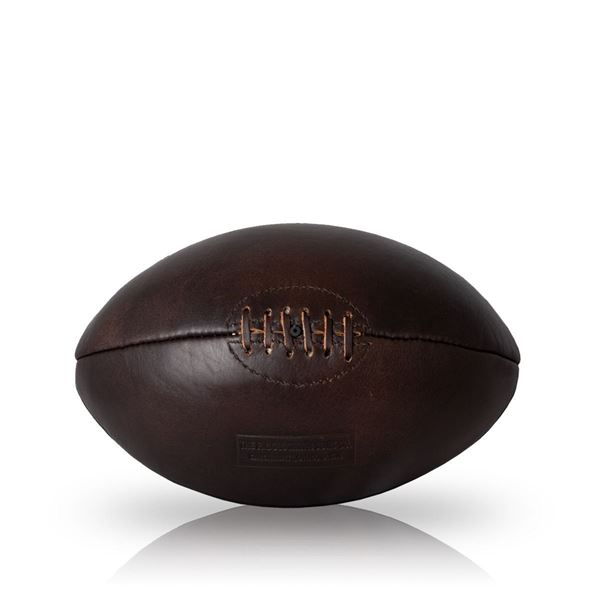 Picture of Vintage Rugby Ball 1930 - Dark Brown