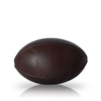 Vintage Rugby Ball 1930 - Dark Brown