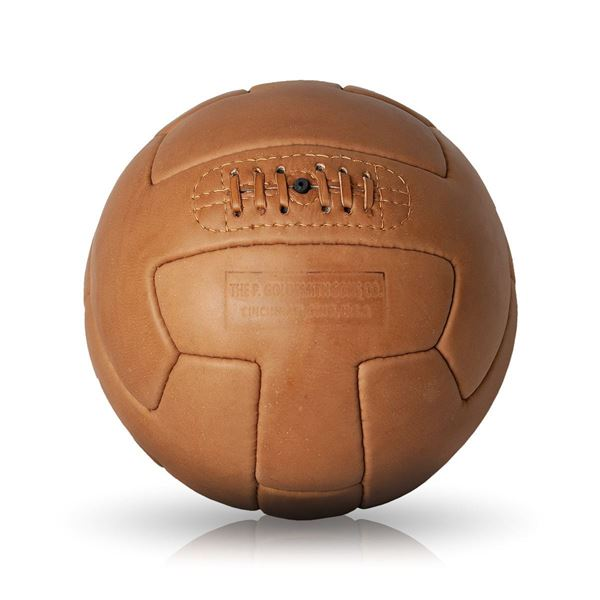 Picture of Vintage Soccer Ball 1930 - Tan Brown