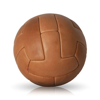 Vintage Soccer Ball 1930 - Tan Brown