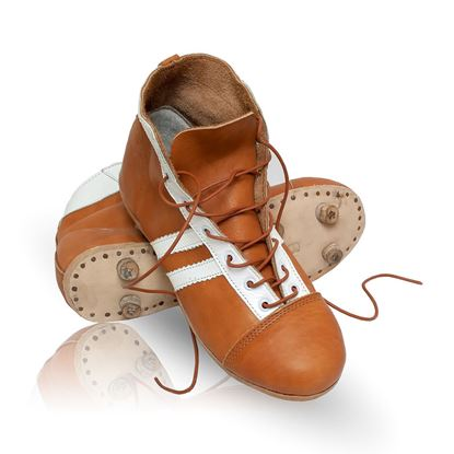 Vintage Soccer Boots 1950's - Tan Brown