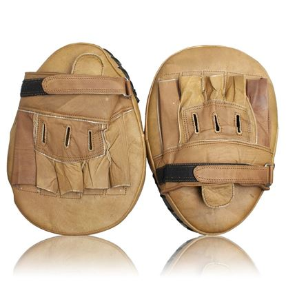 Vintage Boxing Coaching Pads - Tan Brown