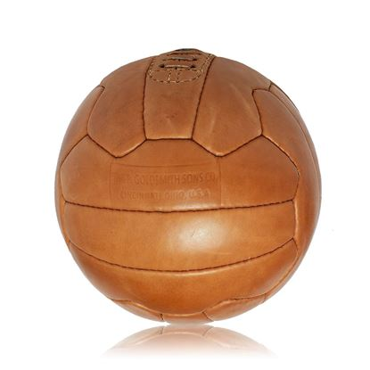 Vintage Soccer Ball WC 1954 - Tan Brown