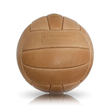 Vintage Soccer Ball 1950's - Tan Brown