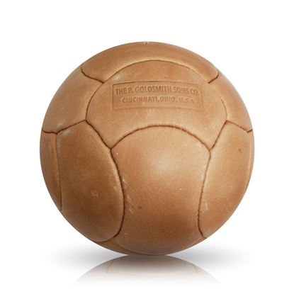 Vintage Soccer Ball WC 1962 - Tan Brown