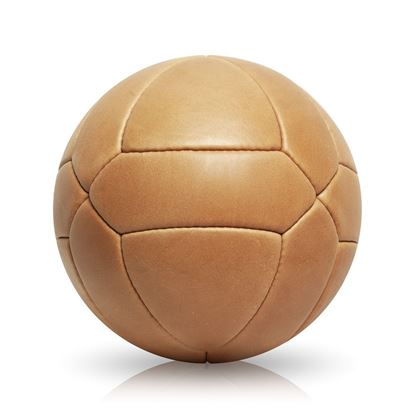 Vintage Soccer Ball Triangle Panel - Tan Brown