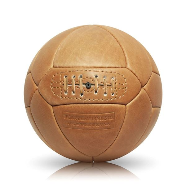 Picture of Vintage Soccer Ball Triangle Panel - Tan Brown