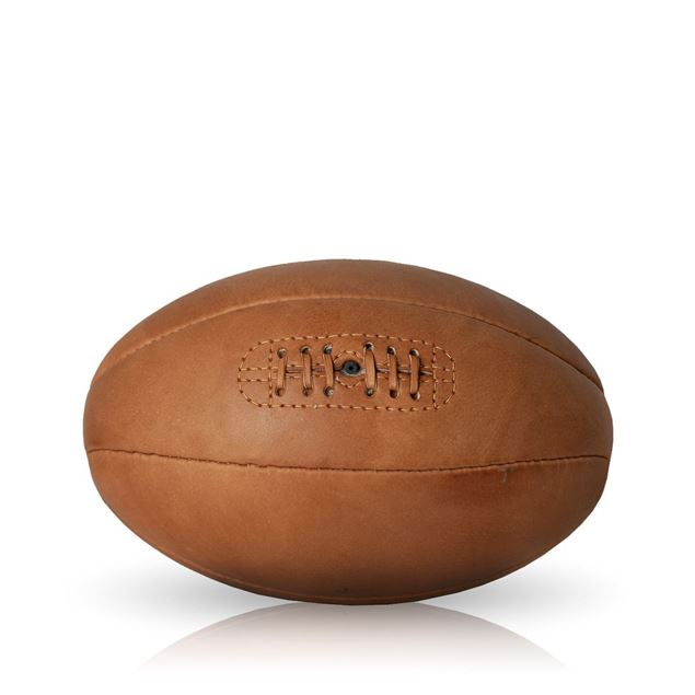 Picture of Vintage Rugby Ball 1940 - Tan Brown