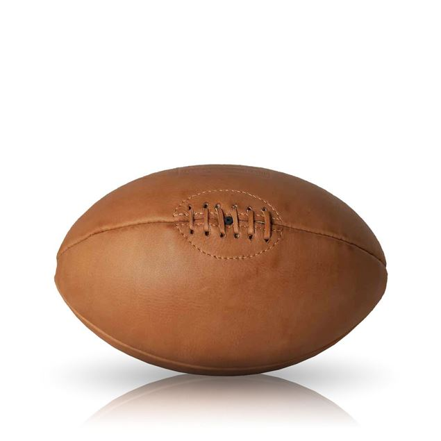 Picture of Vintage Rugby Ball 1930 - Tan Brown