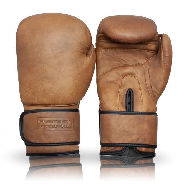 Picture of Vintage Boxing  Gloves (Strap Up) - Tan Brown