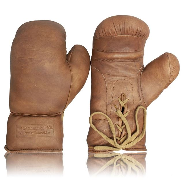 Picture of Vintage Boxing Gloves 1930's - Tan Brown