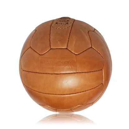 Vintage Soccer Ball WC 1954 - Tan Brown