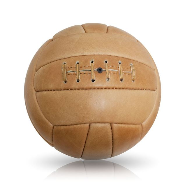 Picture of Vintage Soccer Ball 1950's - Tan Brown