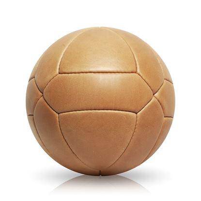 Vintage Soccer Ball Triangle Panel - Tan Brown